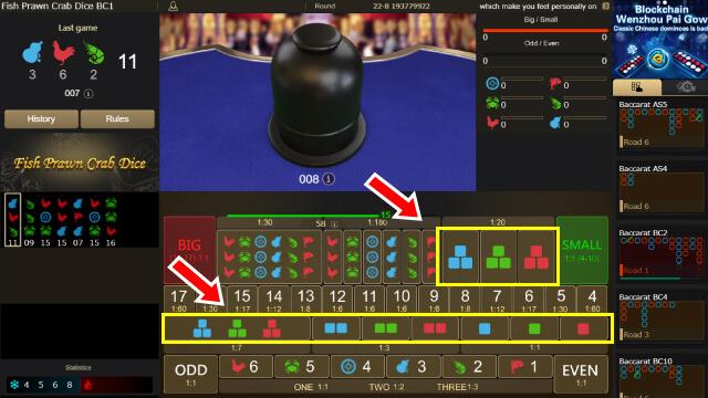 色を指定する賭け方